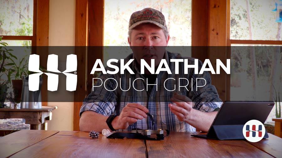 Slingshot pouch grip tips